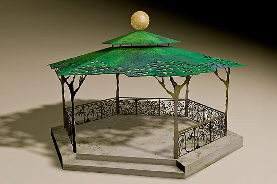 Maquette for Grow Regina Gazebo, ©2010 Victor Cicansky
